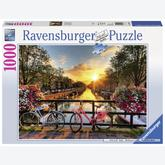 Jigsaw puzzle 1000 pcs - Cycling in Amsterdam (by Ravensburger)