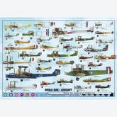 Jigsaw puzzle 1000 pcs - World War I Aircraft (by Ricordi)