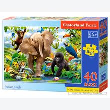 Jigsaw puzzle 40 pcs - Jungle - Extra Large Pieces (by Castorland)