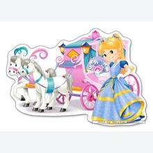Jigsaw puzzle 12 pcs - Princess Carriage - Extra Large Pieces (by Castorland)