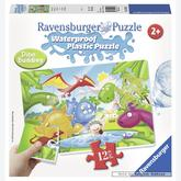 12 pcs - Dinoworld - Waterproof - Aqua Puzzles (by Ravensburger)