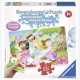Jigsaw puzzle 12 pcs - Princesses - Waterproof - Aqua Puzzles (by Ravensburger)