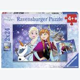 Jigsaw puzzle 24 pcs - Northern Light - Frozen (by Ravensburger)