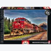 Jigsaw puzzle 1500 pcs - Canadian Pacific Train Entering Banff - Genuine (by Educa)