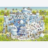 Jigsaw puzzle 1000 pcs - Funky Zoo - Polar Habitat  - Degano (by Heye)