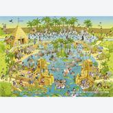 Jigsaw puzzle 1000 pcs - Funky Zoo - Nile Habitat - Degano (by Heye)