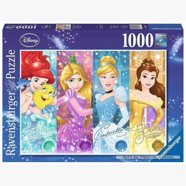 1000 Pcs Ariel Rapunzel Cinderella Belle Disney By