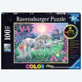 100 pcs - Unicorns in Moonlight - Color Starline (by Ravensburger)