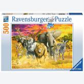 500 pcs - African Animals (by Ravensburger)