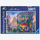 Jigsaw puzzle 500 pcs - Minnie en Mickey in Venice - James Coleman (by Ravensburger)