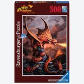 500 pcs - Fire Dragon - Anne Stokes (by Ravensburger)