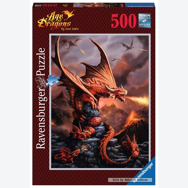 500 Pcs Fire Dragon Anne Stokes By Ravensburger