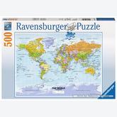 500 pcs - Political world map (by Ravensburger)