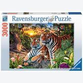 3000 pcs - Hidden Tigers (by Ravensburger)