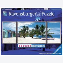 Jigsaw puzzle 1000 pcs - Island Saona  - Triptychon (by Ravensburger)