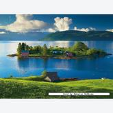 Jigsaw puzzle 1500 pcs - Island in Hordaland Norway (by Ravensburger)
