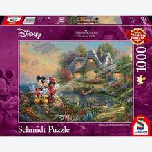 Jigsaw puzzle 1000 pcs - Disney Mickey & Minnie - Thomas Kinkade (by Schmidt)