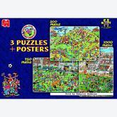 Jigsaw puzzle 1000 pcs - Football (3 puzzles) - Jan van Haasteren (by Jumbo)