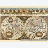 Jigsaw puzzle 3000 pcs - World Map, 1665 - Original (by Ravensburger)