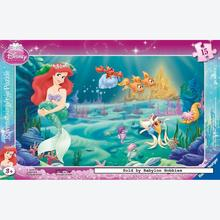 Jigsaw puzzle 15 pcs - Little Mermaid - Frame puzzles (by Ravensburger)