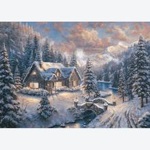 Jigsaw puzzle 1000 pcs - Christmas in the mountains - Thomas Kinkade (by Schmidt)