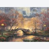 1000 pcs - Autumn in Central Park, Glow in the Dark - Thomas Kinkade (by Schmidt)