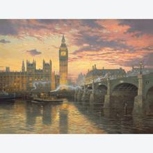 Jigsaw puzzle 1000 pcs - Evening mood in London - Thomas Kinkade (by Schmidt)