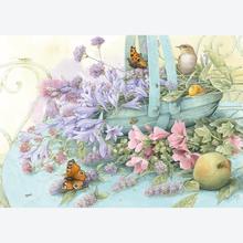 Jigsaw puzzle 1000 pcs - Basket of Flowers - Marjolein Bastin (by Schmidt)