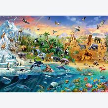 Jigsaw puzzle 1000 pcs - Animal Kingdom (by Schmidt)