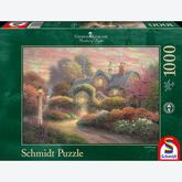 1000 pcs - Rosebud Cottage - Thomas Kinkade (by Schmidt)