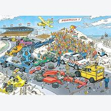 Jigsaw puzzle 1000 pcs - Formula 1, The Start - Jan van Haasteren (by Jumbo)