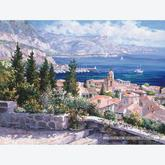 Jigsaw puzzle 1000 pcs - Over the Roofs of St. Tropez - Sam Park (by Schmidt)