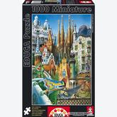 Jigsaw puzzle 1000 pcs - Collage Gaudi - Miniature (by Educa)