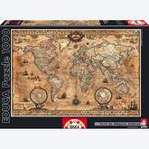 Jigsaw puzzle 1000 pcs - Antique World Map - Genuine (by Educa)