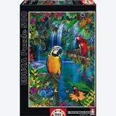 Jigsaw puzzle 500 pcs - Bird Tropical Land - Genuine (by Educa)