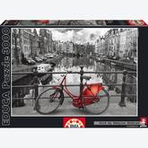 Jigsaw puzzle 3000 pcs - Amsterdam - Black and White (by Educa)