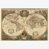 Jigsaw puzzle 5000 pcs - Antique World Map - Original (by Ravensburger)