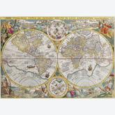 Jigsaw puzzle 1500 pcs - World Map 1594 (by Ravensburger)