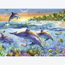 Jigsaw puzzle 500 pcs - Dolphin Bay (by Ravensburger)