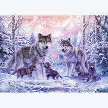 Jigsaw puzzle 1000 pcs - Arctic Wolves (by Ravensburger)