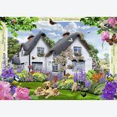 1000 pcs - Delphinium Cottage (by Ravensburger)