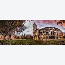 Jigsaw puzzle 1000 pcs - Colosseum by Sunset - Panorama (by Ravensburger)