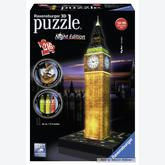 216 pcs - Big Ben by Night - Puzzle 3D Night Edition (by Ravensburger)
