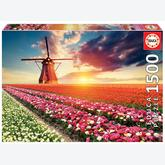 Jigsaw puzzle 1500 pcs - Tulips Landscape (by Educa)