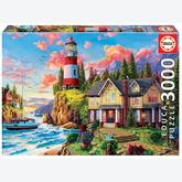 Jigsaw puzzle 3000 pcs - LIGHTHOUSE NEAR THE OCEAN (by Educa)