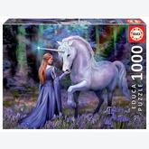 Jigsaw puzzle 1000 pcs - Bluebell Woods - Anne Stokes - Anne Stokes (by Educa)