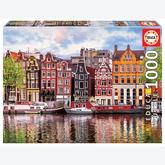 Jigsaw puzzle 1000 pcs - Dancing Houses, Amsterdam (by Educa)