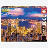 Jigsaw puzzle 1000 pcs - Hong Kong Skyline - Neon (by Educa)