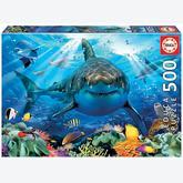Jigsaw puzzle 500 pcs - Great White Shark (by Educa)