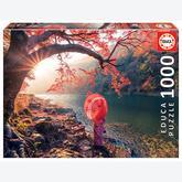 Jigsaw puzzle 1000 pcs - Sunrise in Katsura River, Japan (by Educa)